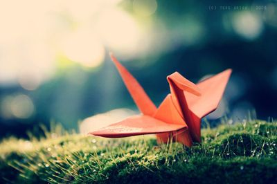 positive paper cranes