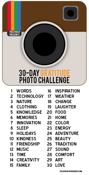 Gratitude Challenge 2012