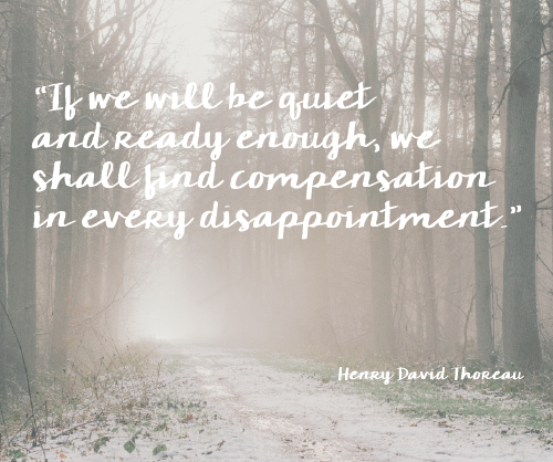 how to handle disappointment - positively present