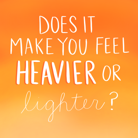 Heavier or Lighter