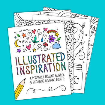 Illustrated Inspiration Patreon Coloring Book Sample